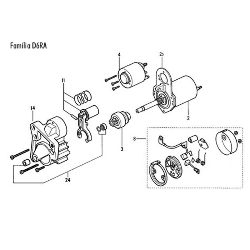 Motor de Arranque peugeot con reducción.