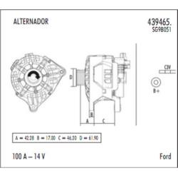 alternador ford courier